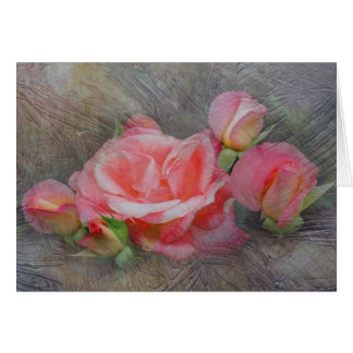 Rose Family Textured Card