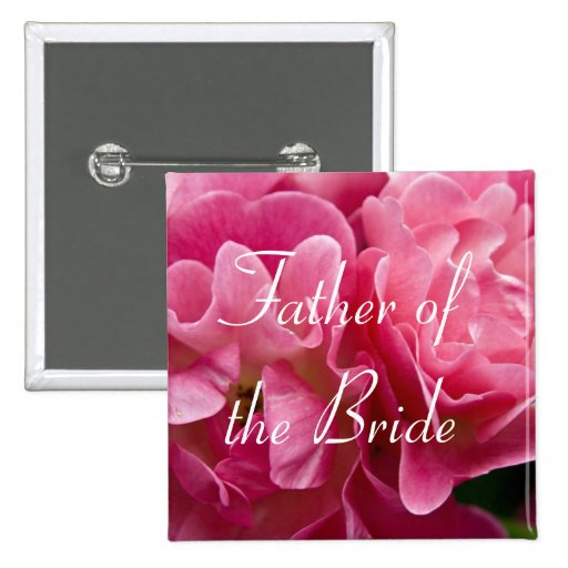 Rose :: Father of the Bride Wedding Button