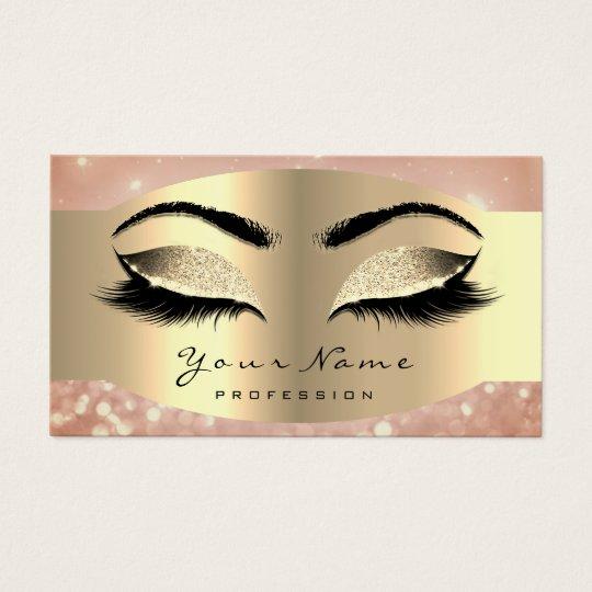 Rose Faux Gold Makeup Artist Lash Black Brows Business Card