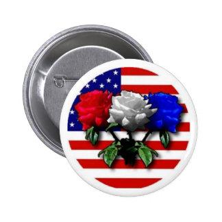 ROSE FLAG PIN