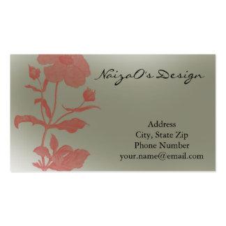 Rose Fleur in Mint Green Business Card