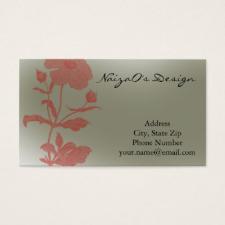 Rose Fleur in Mint Green Business Card