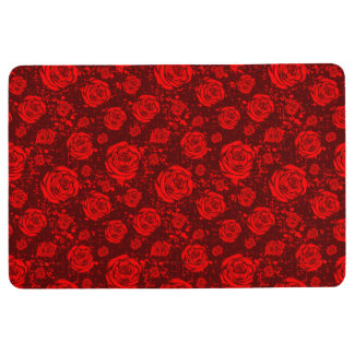 rose floor mat
