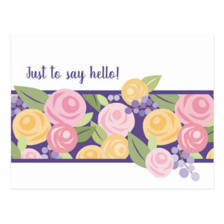 Rose Floral Band Post Card -Customize
