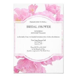 Rose Floral Bridal Shower Invitations