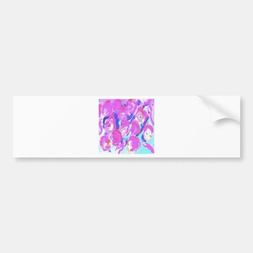 Rose Floral Design Products Bumper Sticker