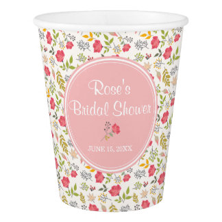 Rose Floral | Paper Cups