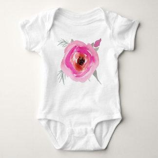 Rose Flower Baby Bodysuit
