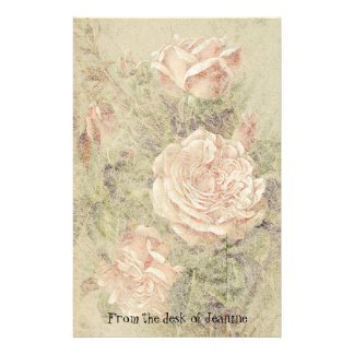 Rose Flowers Faux Handmade Paper Stationery