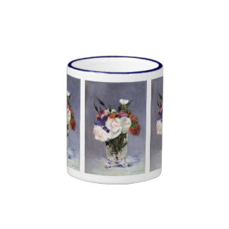 Rose Flowers in a Glass Vase Mug