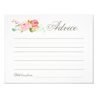 Rose Garden | Advice Card 11 Cm X 14 Cm Invitation Card