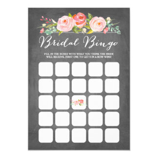 Rose Garden Bridal Shower Bingo Card