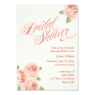 Rose Garden Bridal Shower Invitation