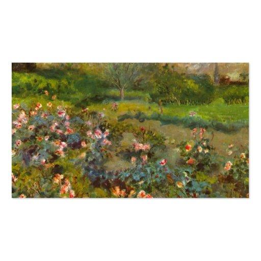 Rose Garden by Renoir beautiful impressionist art Business Card Templates