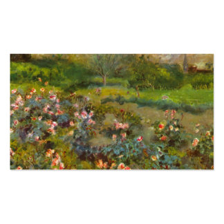Rose Garden by Renoir beautiful impressionist art Pack Of Standard Business Cards
