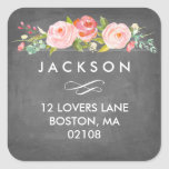 Rose Garden Floral Address Sticker