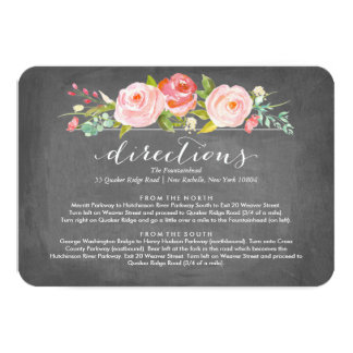 Rose Garden Floral Directions Wedding Card 9 Cm X 13 Cm Invitation Card