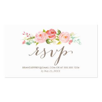 Rose Garden Floral Wedding Email RSVP Pack Of Standard Business Cards