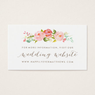 Rose Garden Floral Wedding Website Double-Sided