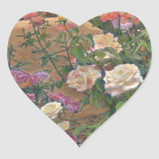 Rose Garden Heart Sticker