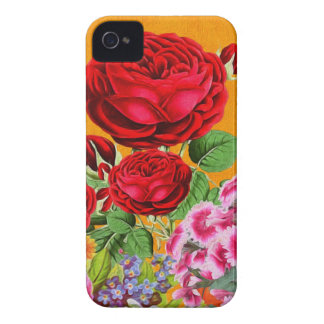 Rose Garden Orange Background iPhone 4 Cover