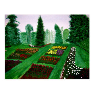 Rose Garden, Portland, Oregon watercolor painting Post Card