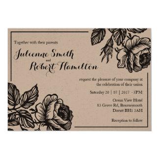 Rose Garden | Rustic Floral Wedding Invitations