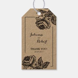 Rose Garden | Rustic Wedding Favor Gift Tags