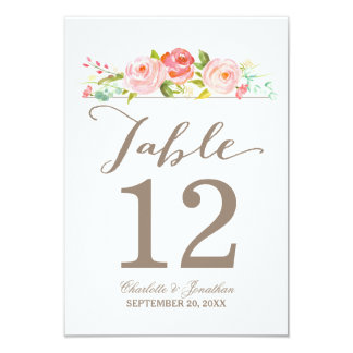 Rose Garden | Table Number Card