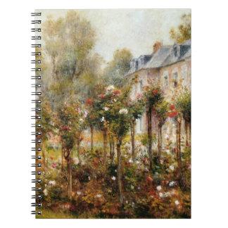 Rose Garden Wargemont by Renoir Spiral Notebook
