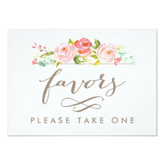 Rose Garden Wedding Favors Please Take One Print 13 Cm X 18 Cm Invitation Card