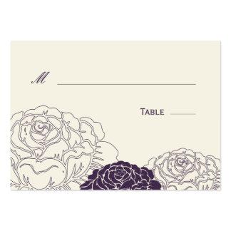 Rose Garden Wedding Place Card - Purple Business Card