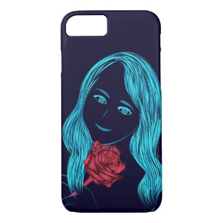 Rose Girl iPhone cover
