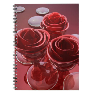Rose glass spiral notebook