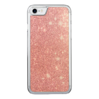 Rose Glitter Shine Look Carved iPhone 8/7 Case