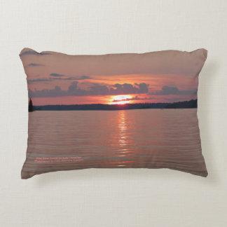 Rose Glow Sunset On Lake Vermilion h-throw Decorative Cushion