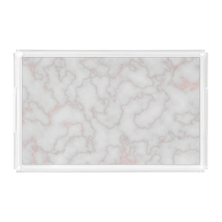 Rose Gold Accented Marble [HQ] Acrylic Tray