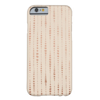 Rose Gold and Cream Dotted Lines iPhone 6/6s Case Barely There iPhone 6 Case