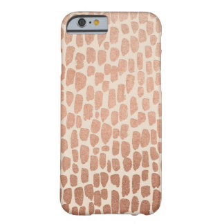 Rose Gold and Cream Spots iPhone 6/6s Case