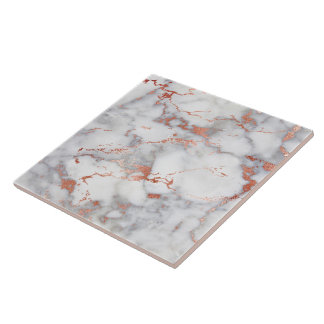 rose gold and grey marble ceramic tile
