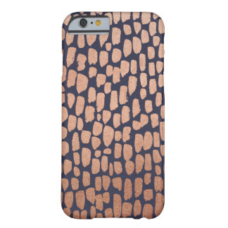 Rose Gold and Navy Spots iPhone 6/6s Case