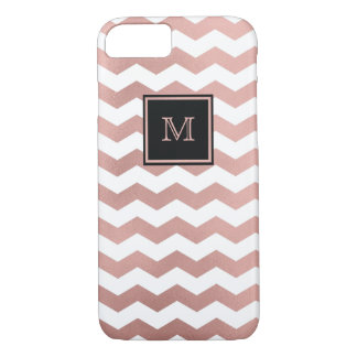 Rose Gold and white chevron Phone case