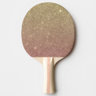Rose Gold and Yellow Gold Glitter Mesh