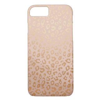 Rose Gold Animal Print Pattern iPhone 7 Case