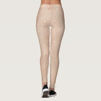 Rose Gold Animal Print Patternlicious Leggings