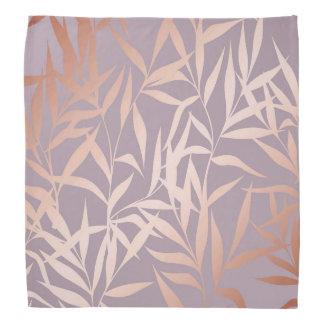 rose gold, asian,leaf,pattern,bamboo trees, beauty bandana