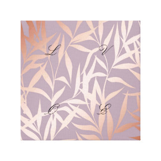 rose gold, asian,leaf,pattern,bamboo trees, beauty canvas print