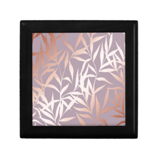 rose gold, asian,leaf,pattern,bamboo trees, beauty gift box