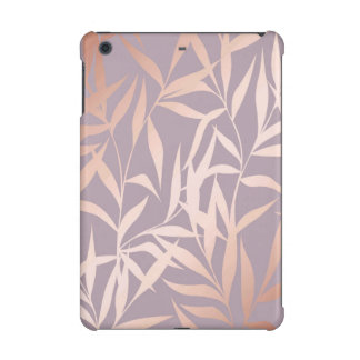 rose gold, asian,leaf,pattern,bamboo trees, beauty iPad mini case