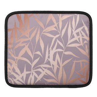 rose gold, asian,leaf,pattern,bamboo trees, beauty iPad sleeve